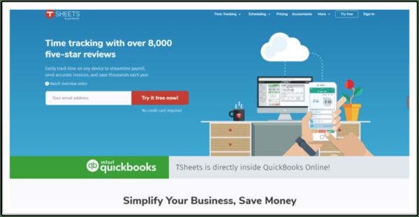 Tsheets Homepage